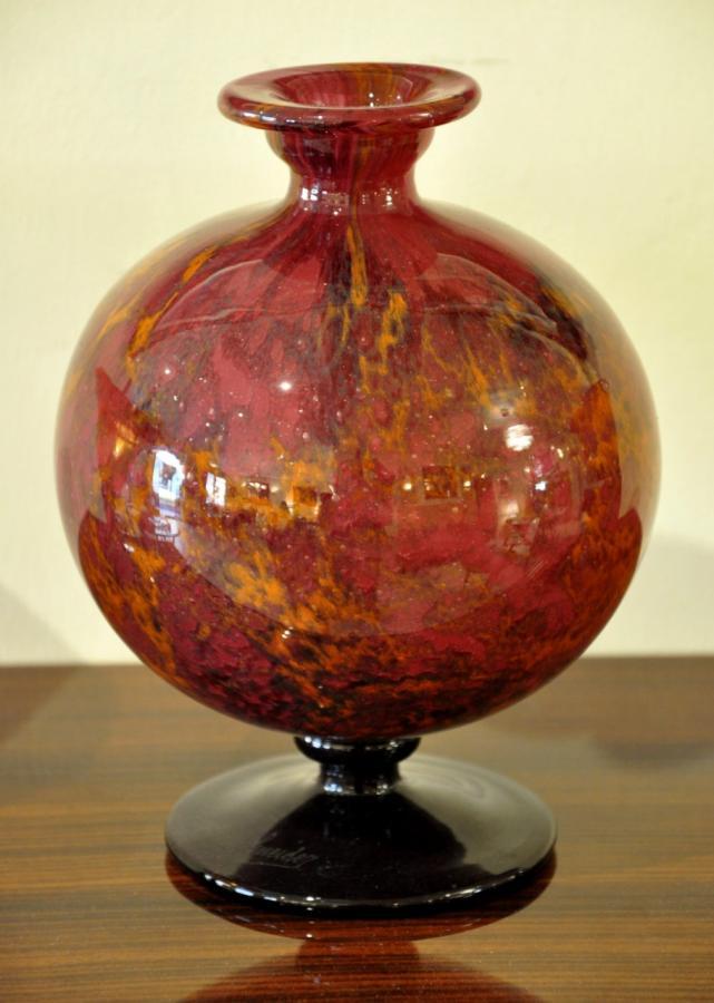 Charles Schneider Marbrine Art Deco Baluster Vase 1920-1925, More Informations...