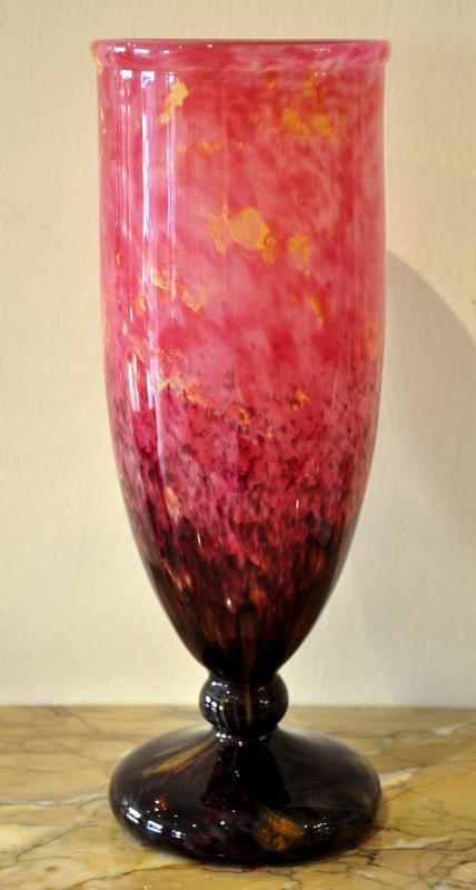Charles Schneider Vase Jades1922-1924 Powdered Art Deco Glass , More Informations...