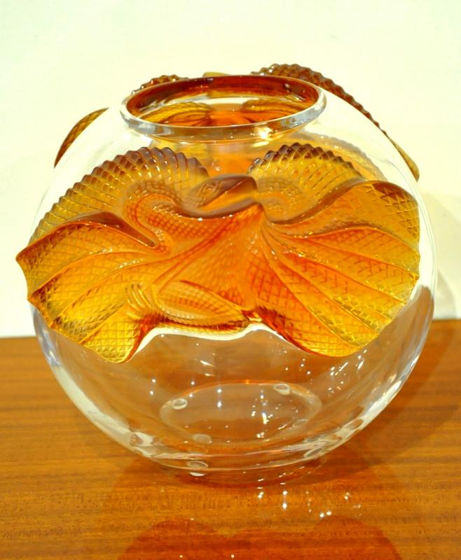 LALIQUE Marie Claude  VASE ERIMAKI 1988 CRYSTAL, More Informations...