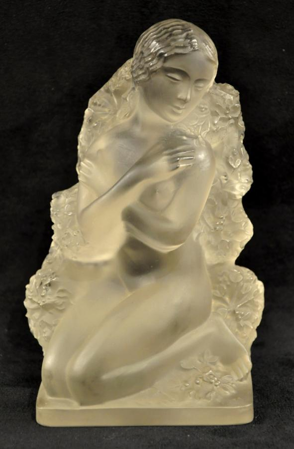Lalique Statuette Winter Surtout 4 Seasons Circa 1960 , More Informations...