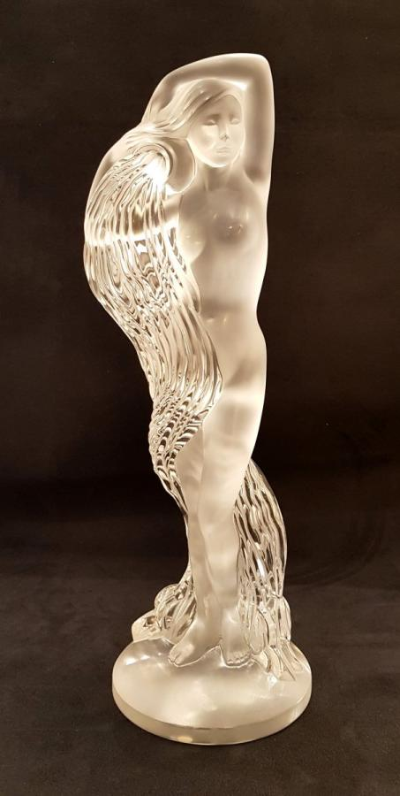 Marie-claude Lalique Grande Nue Néréides Crystal Sculpture Limited Serie 999 Copies , More Informations...