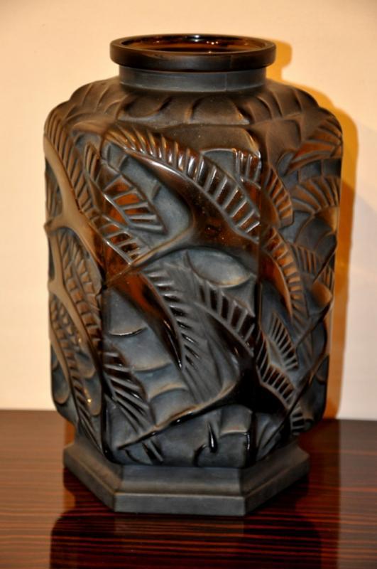 Pierre D Avesn Vase Birds Art Deco 1930