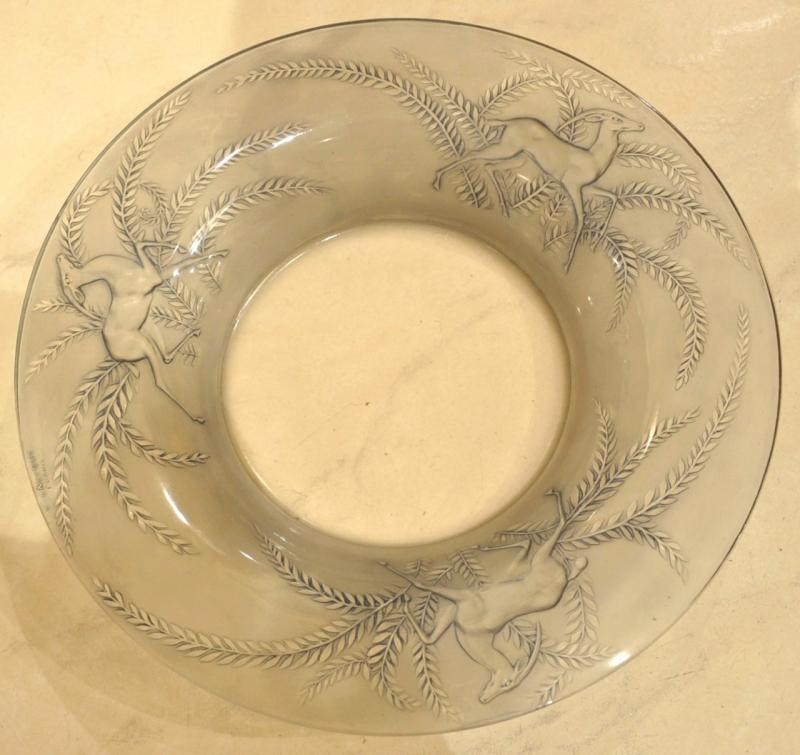 René Lalique Bowl GAZELLES Art dDeco 1925, More Informations...