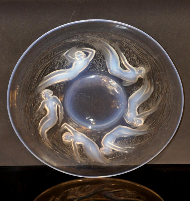 René Lalique Bowl Ondines Opalescent Art Deco 1921 , More Informations...