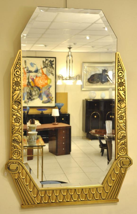 Art Deco Mirror Golden Wood 1920-1925 , More Informations...