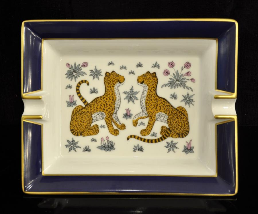 Hermès 2 Panthers Ashtray Empty Pocket Porcelain Limoges , More Informations...