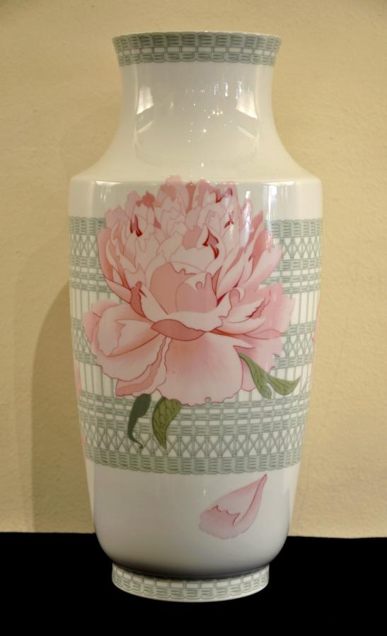 Hermès Paris Vase Peonies Porcelain Limoges , More Informations...