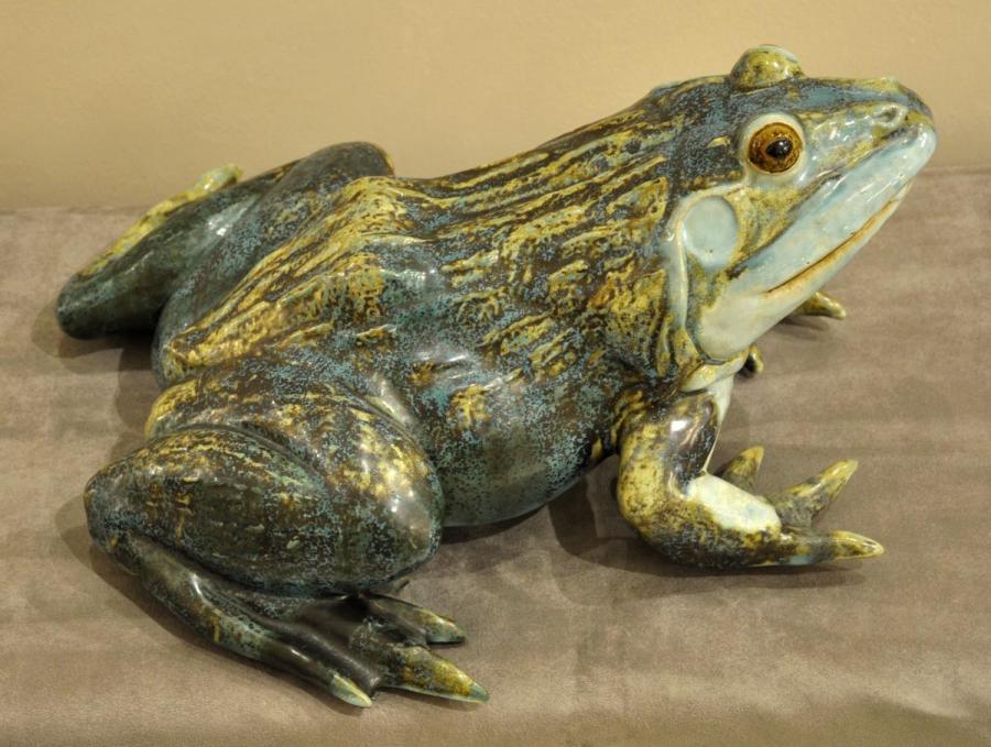 Jacques Nam Glazed Ceramic Frog Circa 1940 , More Informations...