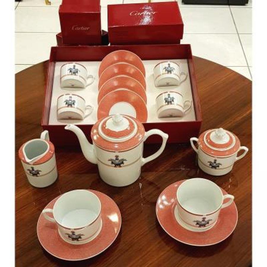 Louis Cartier Tea Service In Porcelain Of Limoges , More Informations...
