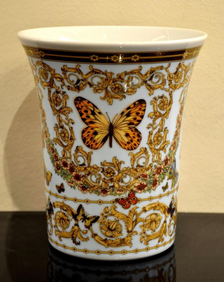 VERSACE & ROSENTHAL Vase Porcelain LE JARDIN DE VERSACE , More Informations...