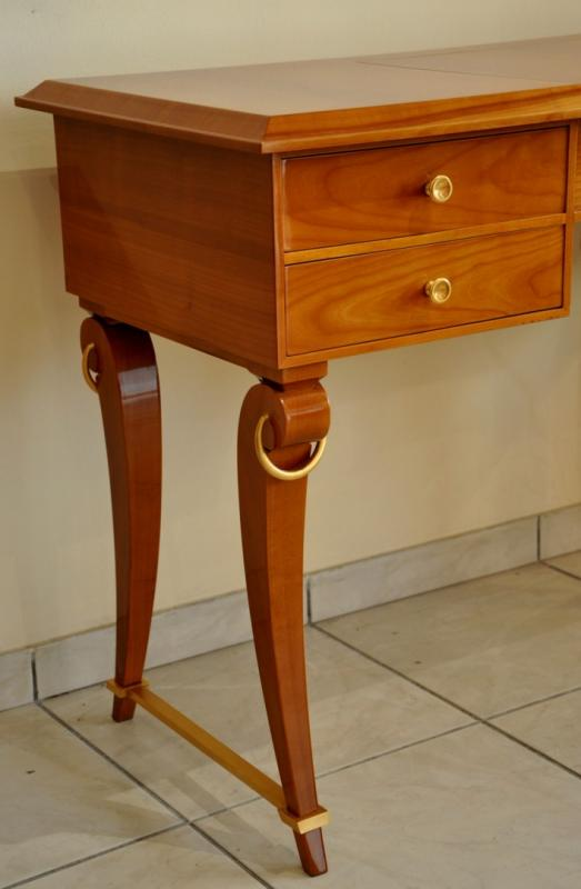 André ARBUS DRESSING TABLE CHERRY SYCAMOR BRONZE 1940, More Informations...
