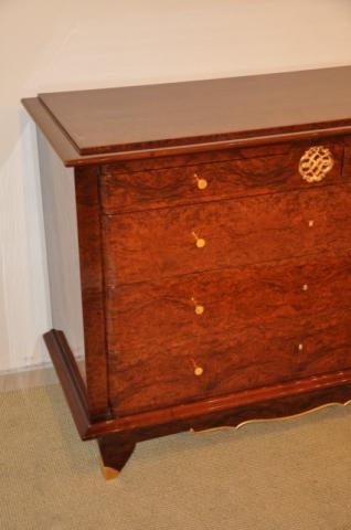CHEST OF DRAWERS JULES LELEU IN MARQUETRY, More Informations...