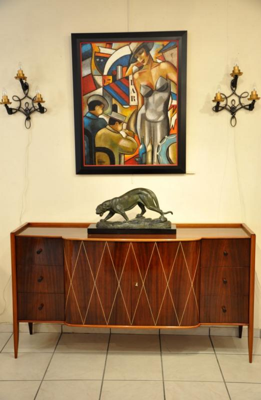 COMMODE CABINET SIDEBOARD ROSEWOOD 1940, More Informations...