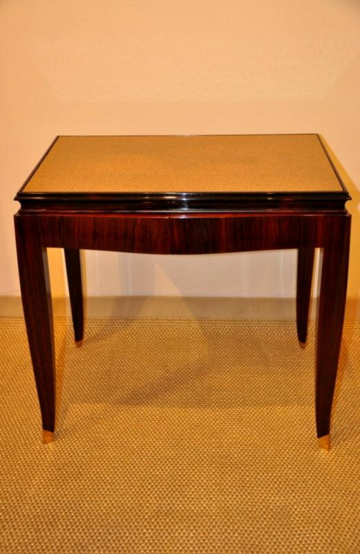 DOMINIQUE COFFEE TABLE  ROSEWOOD ART DECO 1930, More Informations...