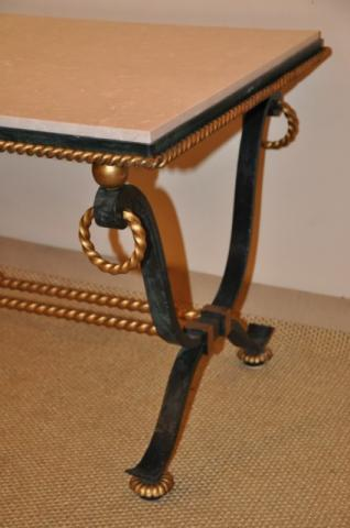 GILBERT POILLERAT Coffee table wrought iron, More Informations...