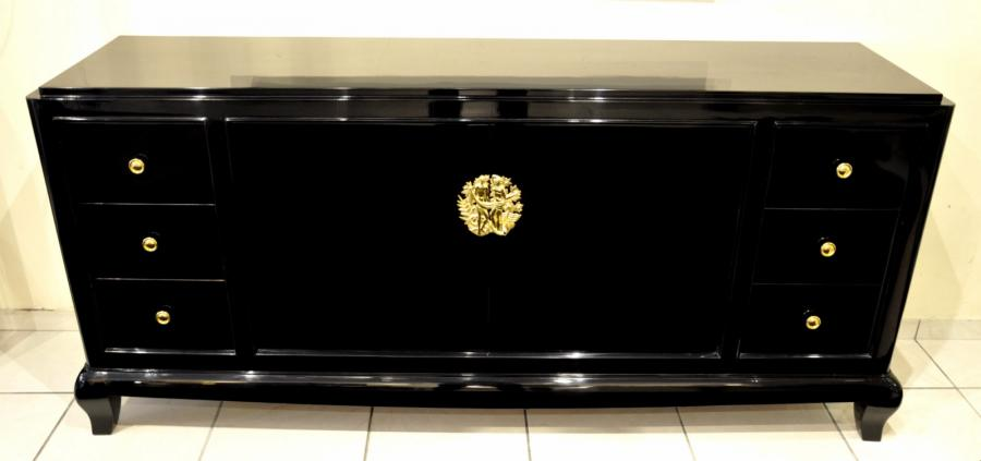 Henri Goulet Black Lacquer Commode 1940-1945, More Informations...