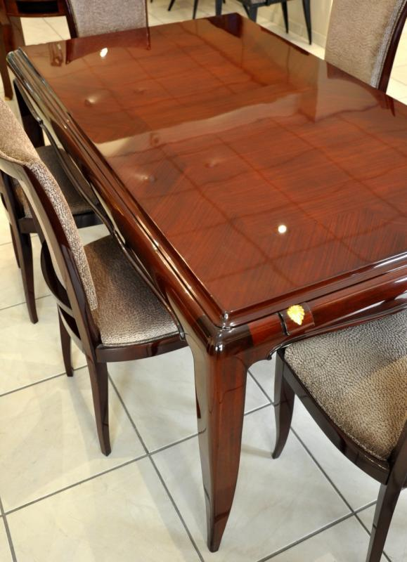 Jean Desnos 1 Dining Table & 6 Chairs Circa 1940 , More Informations...