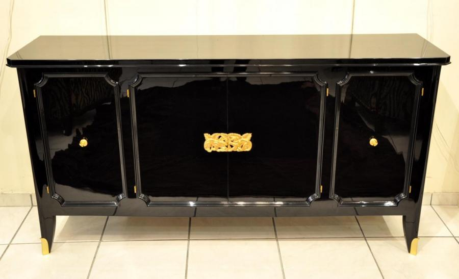 Jean Pascaud & Jean Debarre Sideboard Black Lacquer Epoque 1940-1945 , More Informations...