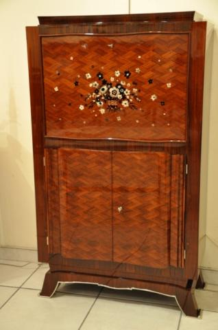 JULES LELEU BAR IN MARQUETRY 1930-1940, More Informations...