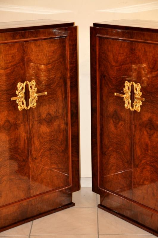 JULES LELEU PAIR of  CABINETS ART DECO 1937, More Informations...