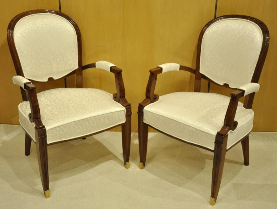 Jules Leleu Pair Of Cabriolets Walnut 1940-1945 , More Informations...
