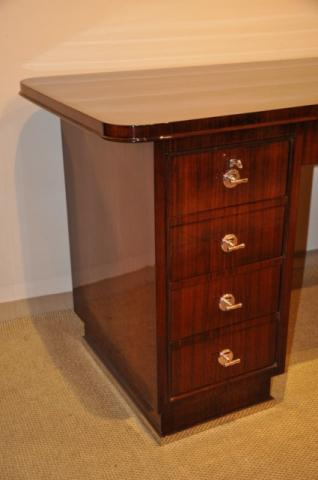LELEU JULES DESK AND ARMCHAIR ART DECO 1930, More Informations...