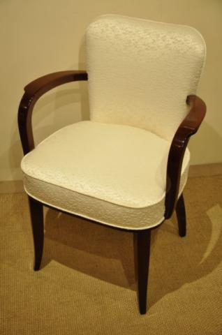 LELEU JULES MAHOGANY ARMCHAIR ART DECO 1930, More Informations...