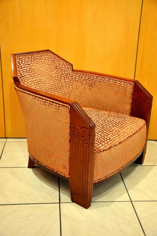 MAURICE  DUFRÊNE PAIR OF ARMCHAIRS  ART DECO 1925-1930, More Informations...