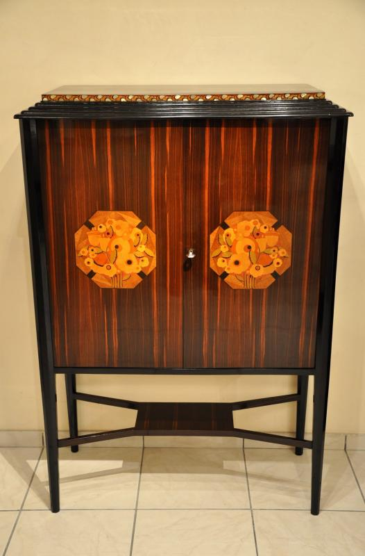 MAURICE DUFRENE CABINET MACASSAR & MARQUETRY ART DECO 1920 -1925, More Informations...