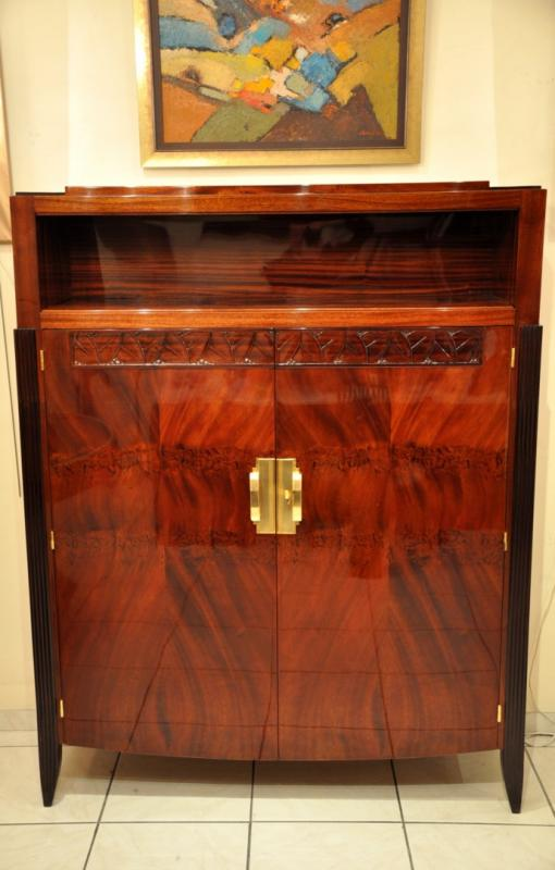 MAURICE JALLOT CABINET in mahogany ART DECO 1930, More Informations...