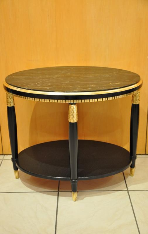 Paul FOLLOT COFFEE TABLE BLACK LACQUER GILDED WOOD  ART DECO 1920-1925, More Informations...