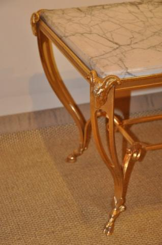 RINCK Maurice  coffe table in gilded bronze, More Informations...