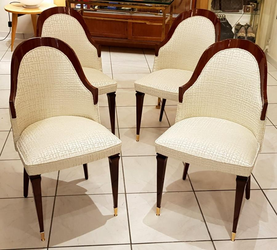 Set of 4 Mahogany Chairs 1945-1950 , More Informations...