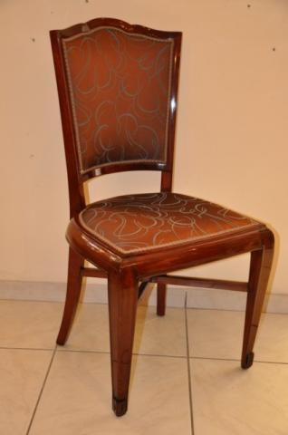 SUE & MARE 6 CHAIRS IN MAHOGANY ART DECO PERIOD   , More Informations...