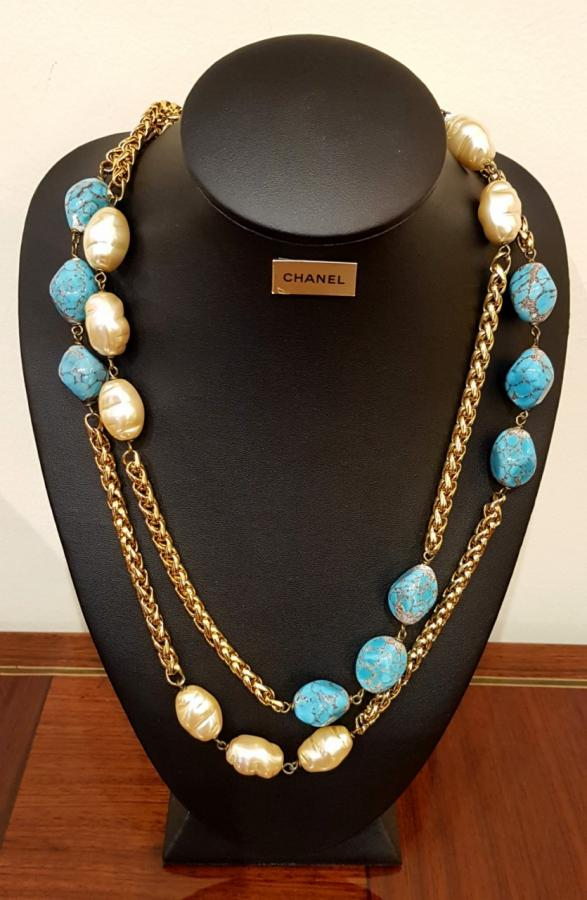 CHANEL PARIS  DOUBLE ROW NECKLACE, More Informations...