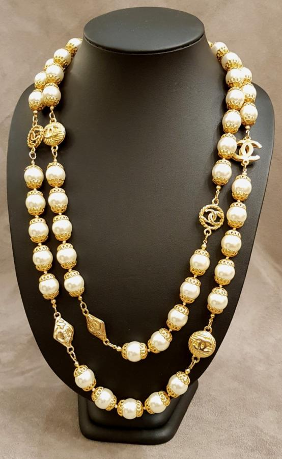 CHANEL PARIS  Long double row necklace, More Informations...