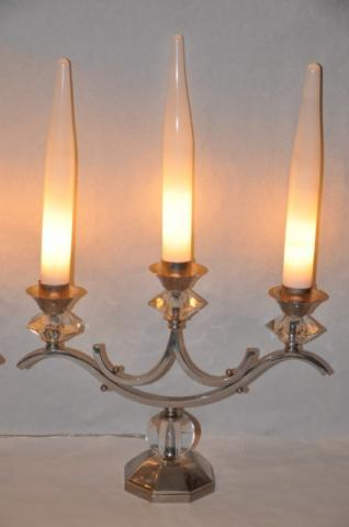 ADNET Jacques ART DECO pair of girandolles, More Informations...