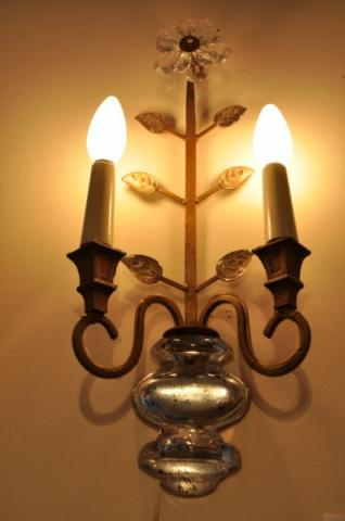 BAGUES PAIRE pair of sconces circa 1940 , More Informations...