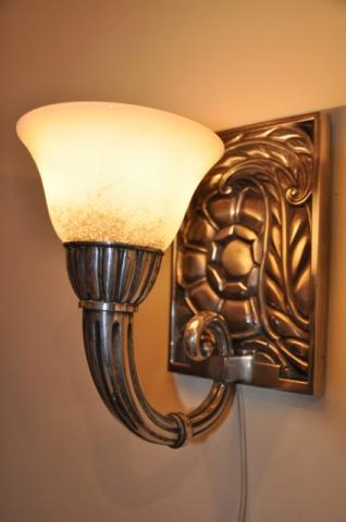 daum nancy france pair of sconces art deco. Black Bedroom Furniture Sets. Home Design Ideas