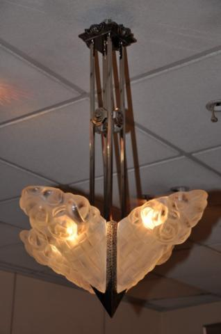 DEGUE CHANDELIER ART DECO 1920-1925, More Informations...