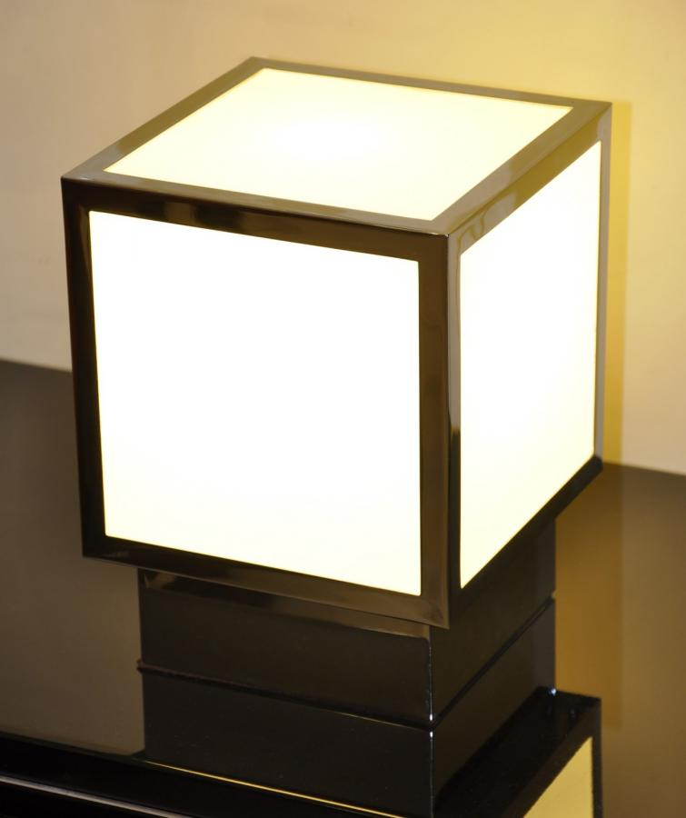 Jean Perzel Chrome Cube Lamp Design 1970 , More Informations...