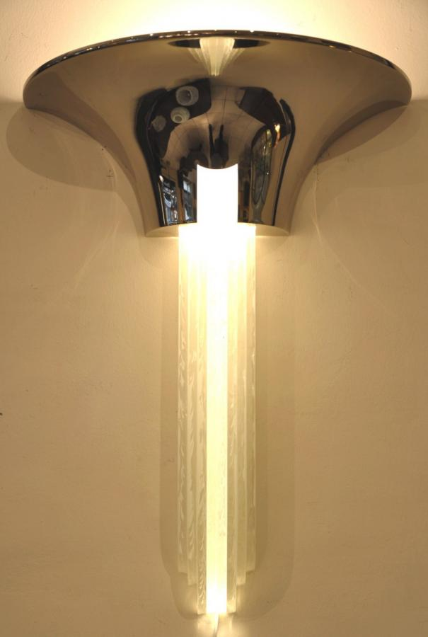 Jean Perzel Pair Of Large Sconces Model No. 651 Circa 1980, More Informations...