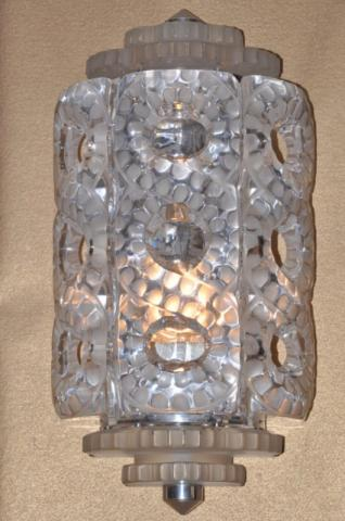 LALIQUE Pair of sconce SEVILLE , More Informations...