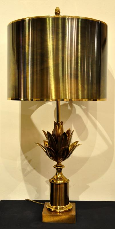 Maison Charles Lamp BRONZE MODEL LOTUS CIRCA 1960 , More Informations...