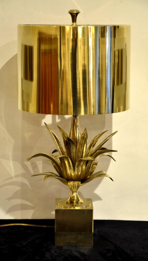 Maison Charles Lamp Model Agave Bronze Circa 1960, More Informations...