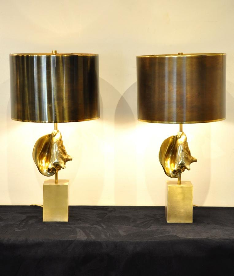 Maison Charles Pair Lamps Aperix Design 1970 , More Informations...