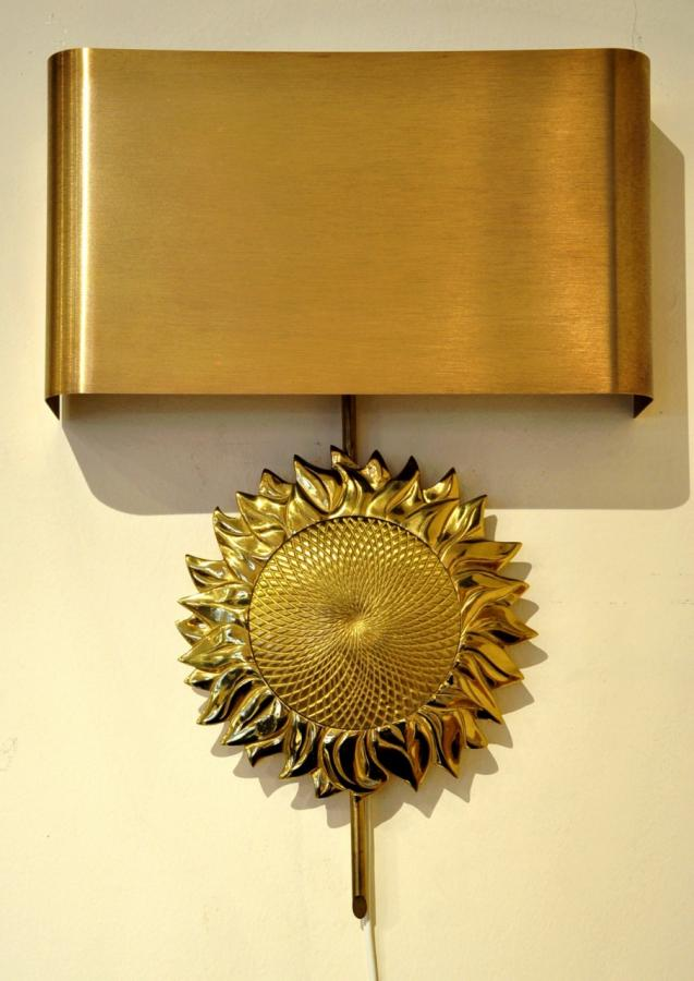 Maison Charles Pair Of Sconces Tournesol Design 1970 , More Informations...