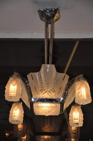 MULLER FRERES LUNEVILLE CHANDELIER ART DECO, More Informations...