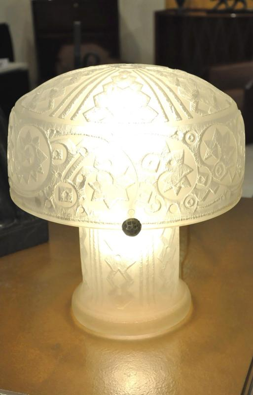 DAUM NANCY FRANCE LAMPE ART DECO  1925-1930, Plus d'infos...