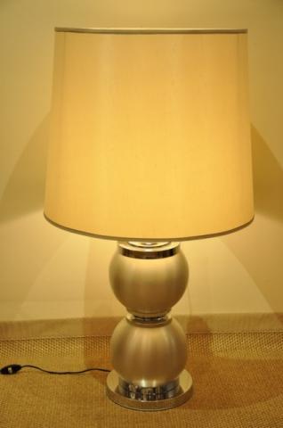 DESIGN 1970 grande lampe métal brossé, Plus d'infos...